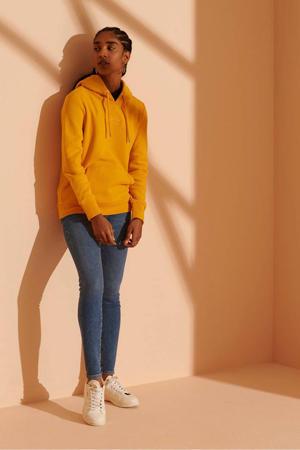 hoodie Tonal met logo en borduursels geel