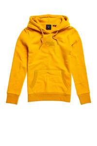 Superdry hoodie Tonal met logo en borduursels geel, Geel