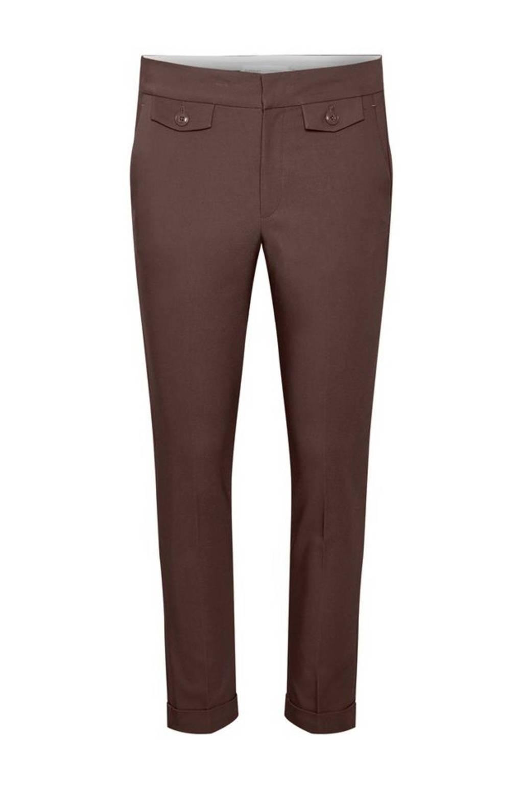 Inwear cropped regular fit pantalon Zella bruin, Bruin