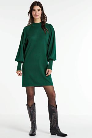 fijngebreide jurk Sanja groen