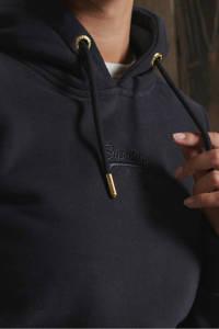 Superdry hoodie Tonal met logo zwart, Zwart