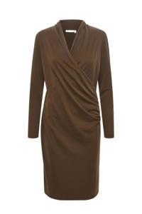 Inwear jurk Catja met plooien bruin, Bruin