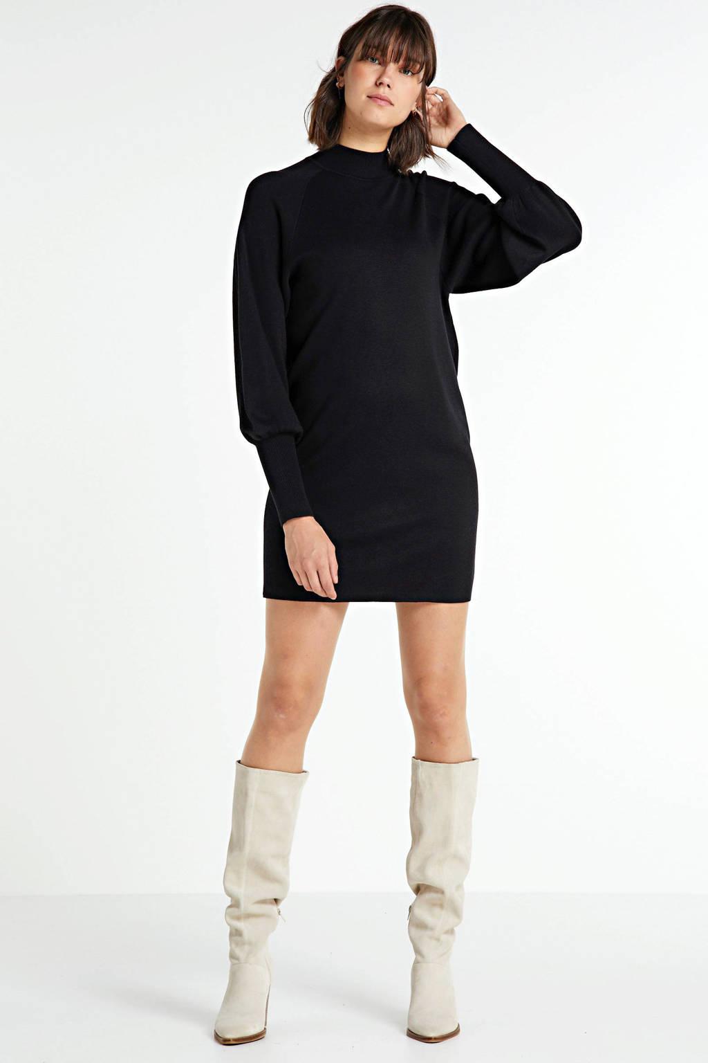 Inwear fijngebreide jurk Sanja zwart, Zwart