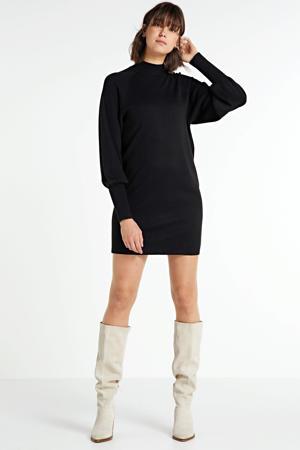 fijngebreide jurk Sanja zwart