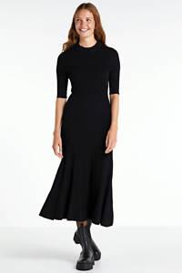Inwear fijngebreide maxi jurk Siff zwart, Zwart