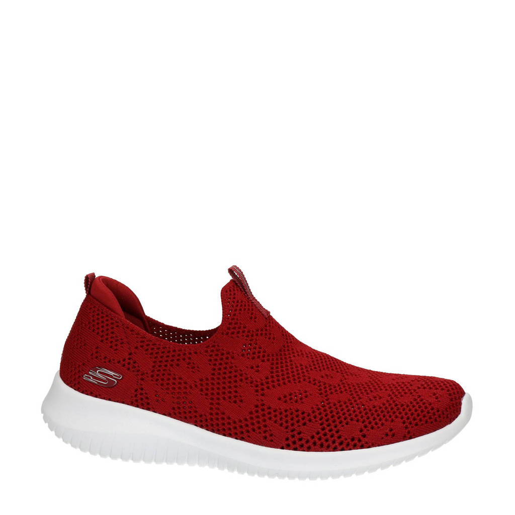 Skechers Stretch Fit  instappers rood, Rood