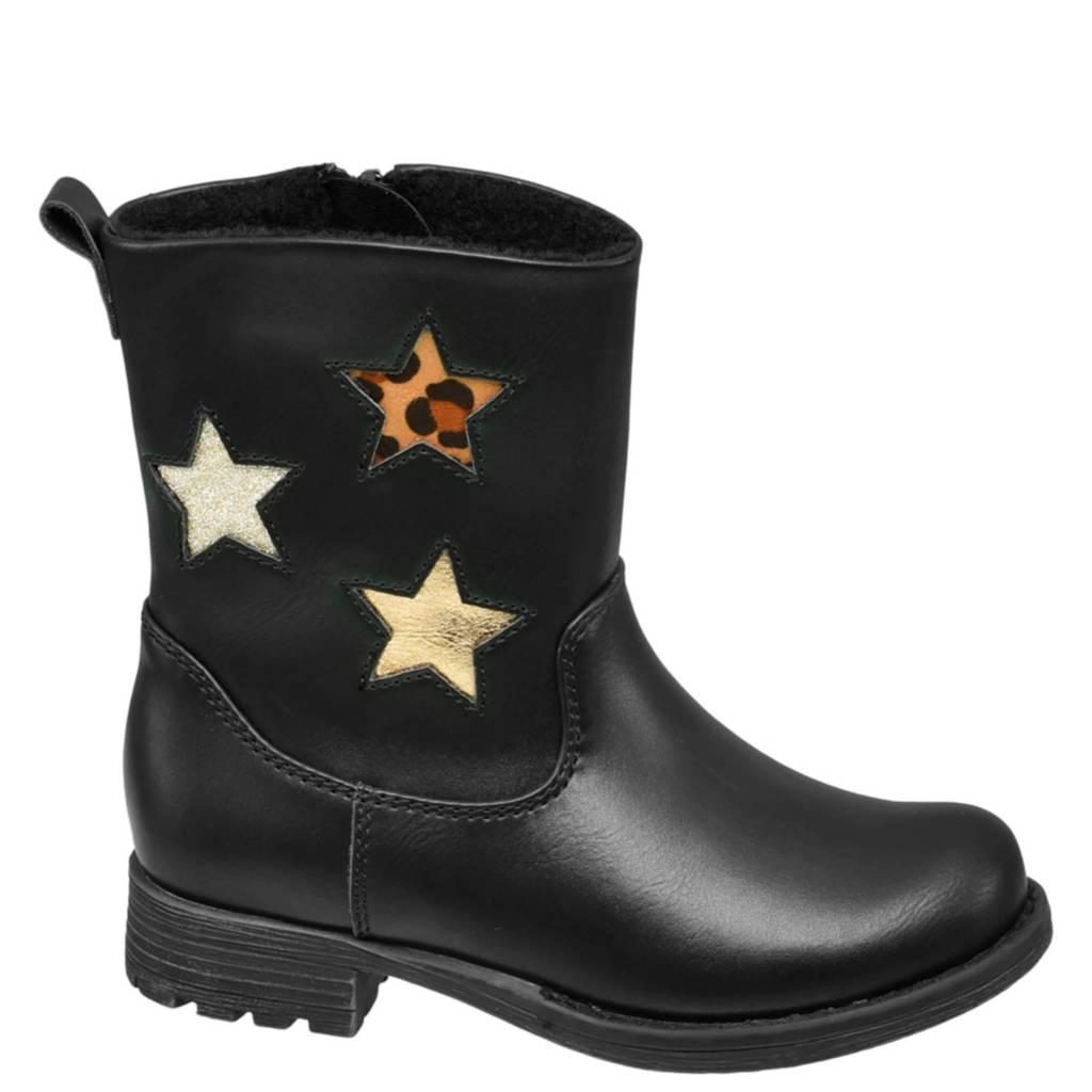 Cupcake Couture   laarzen met sterren zwart, Zwart