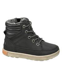 Bobbi-Shoes   veterboots zwart, Zwart