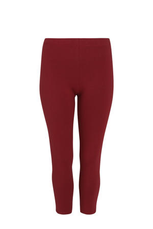 7/8 legging donkerrood