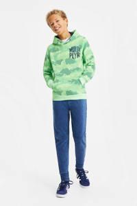 WE Fashion hoodie met camouflageprint groen, Groen