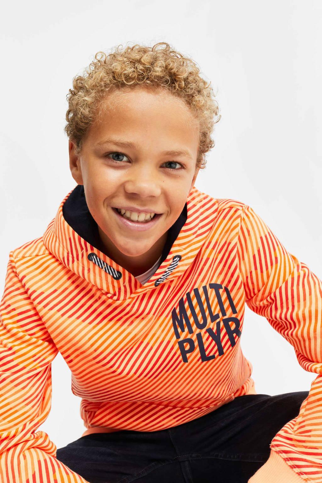 WE Fashion hoodie met camouflageprint oranje, Oranje
