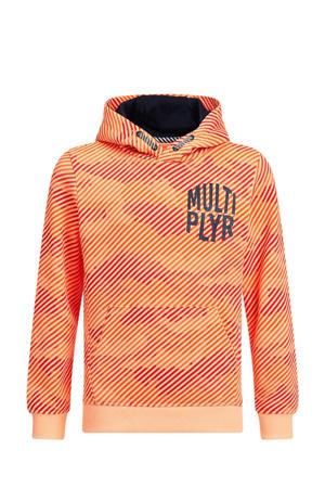 hoodie met camouflageprint oranje