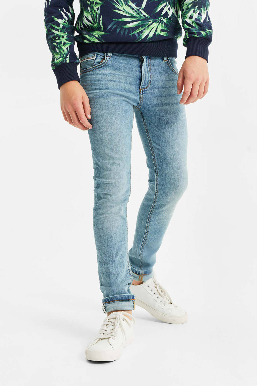 WE Fashion Blue Ridge slim fit jeans light denim, Light denim