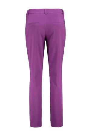 slim fit broek dark violet