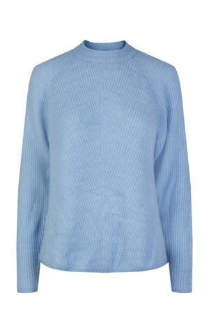 gebreide trui Allu van gerecycled polyester lichtblauw