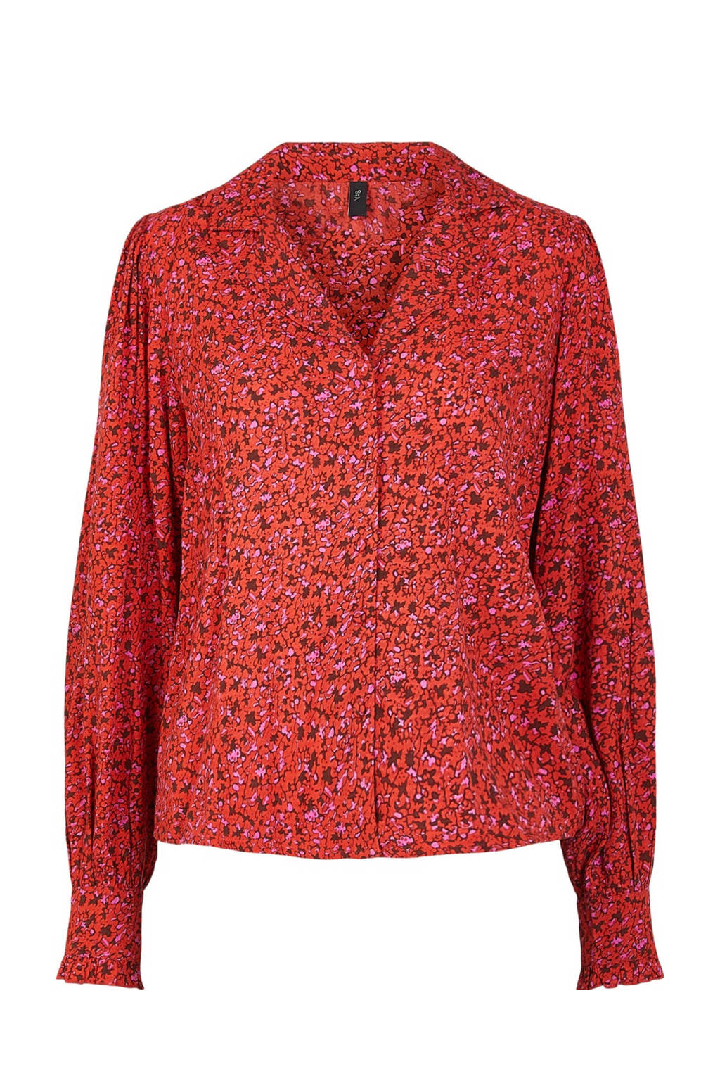 Y.A.S blouse met all over print rood, Rood