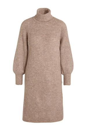 gebreide jurk Allu van gerecycled polyester bruin