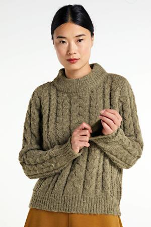 gebreide trui Grace groen
