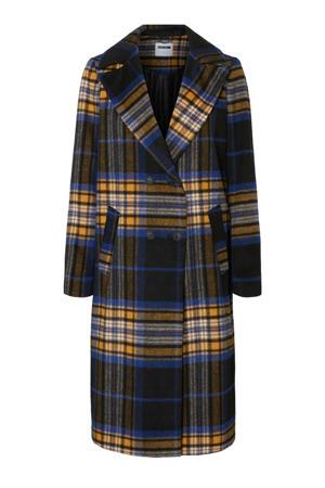 geruite coat Antu zwart/blauw/geel
