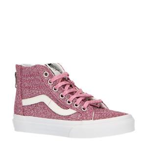 UY SK8-Hi Zip sneakers met glitter roze/zand