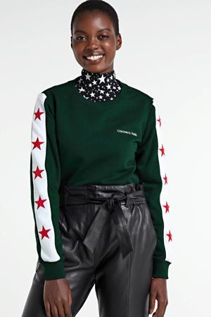 sweater Stripe Stars met sterren groen