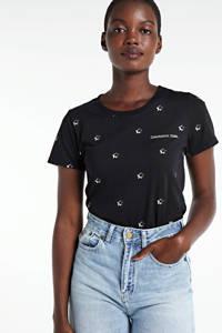 Colourful Rebel T-shirt Stars met sterren zwart, Zwart