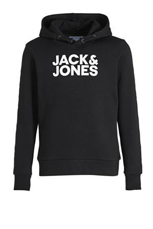 hoodie Corpo met logo zwart/wit