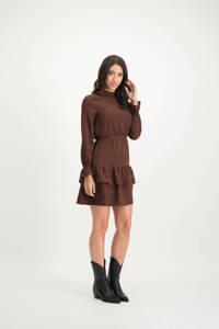 Lofty Manner halter jurk Kiki met stippen donkerrood, Donkerrood