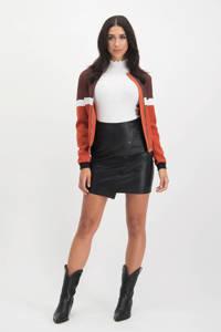 Lofty Manner jasje Linda meerkleurige print bruin, Bruin/wit/zwart