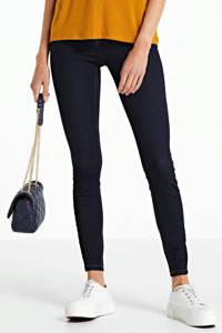 NOISY MAY high waist skinny jeans NMCALLIE dark blue denim, Donkerblauw