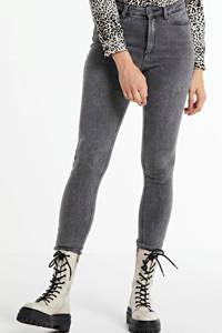 NOISY MAY high waist skinny jeans Callie met biologisch katoen grijs, Grijs
