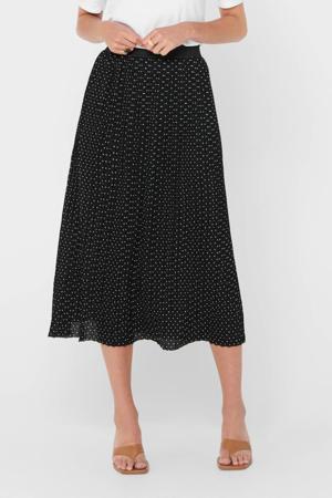 plissé rok zwart/wit