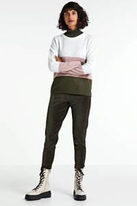 JACQUELINE DE YONG trui Elanora grijs/roze/groen, Grijs/roze/groen