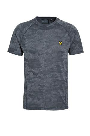 T-shirt camouflage print grijs