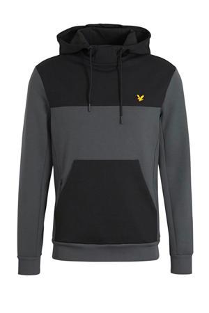 hoodie grijs/zwart