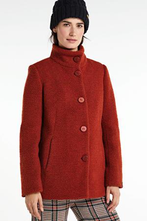 coat Janine met wol rood