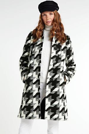 geruite coat Harper zwart/wit