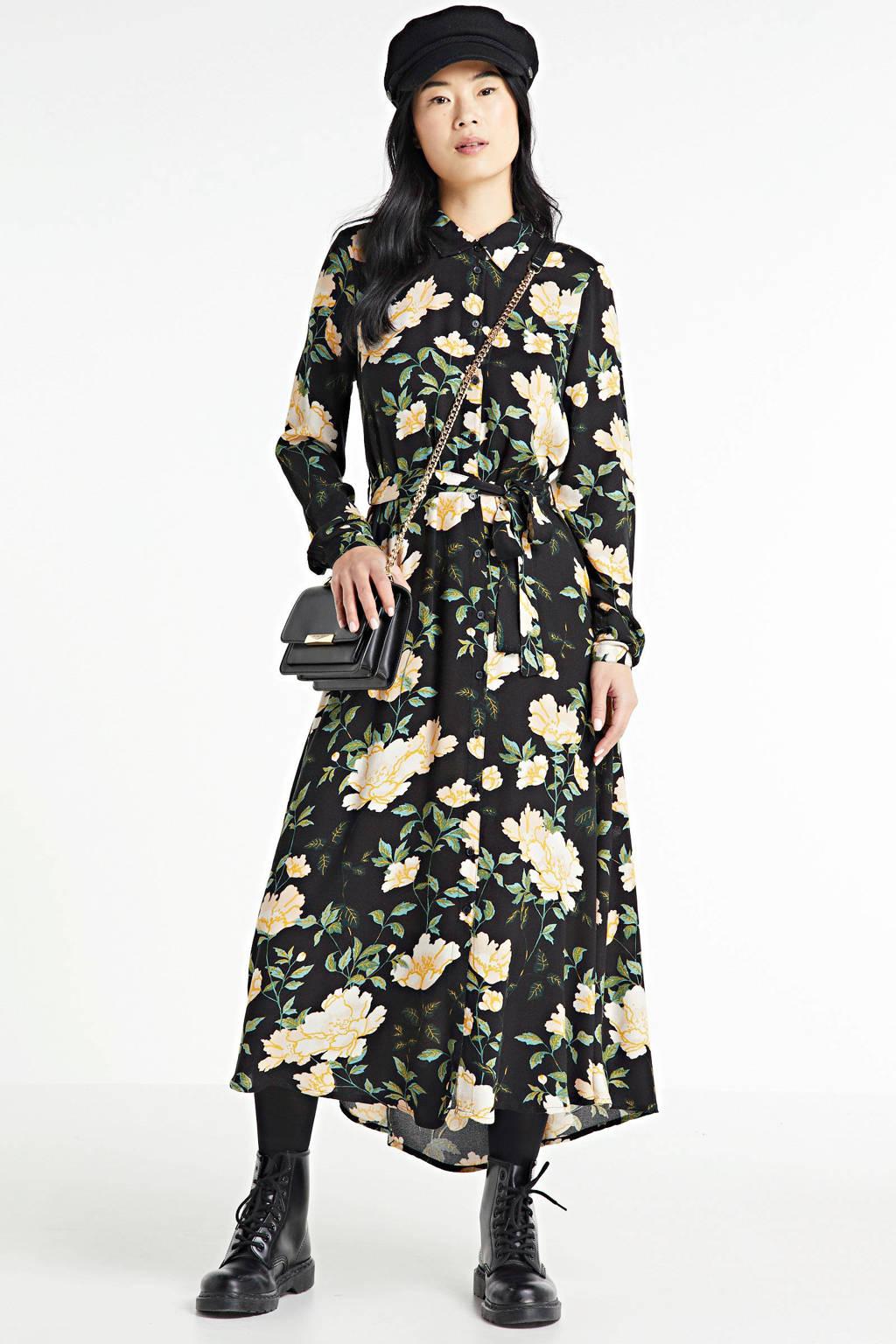 ONLY blousejurk ONLFAYE met all over print zwart, Zwart