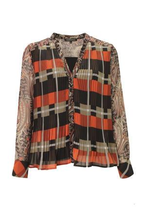 geruite blouse zwart/rood