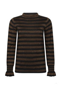 Tramontana gestreepte trui zwart, Zwart