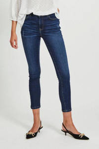 VILA skinny jeans VIDELPHINE dark blue denim, Donkerblauw