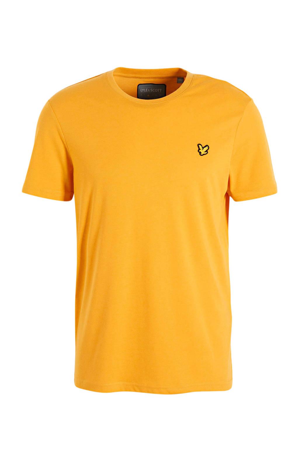 Lyle & Scott T-shirt okergeel, Okergeel
