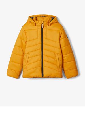 gewatteerde winterjas Mabas geel