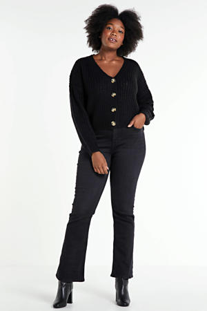 flared jeans NAOMI zwart