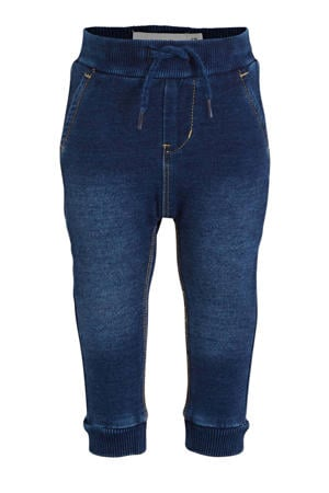 baby regular fit jeans Romeo met biologisch katoen dark denim