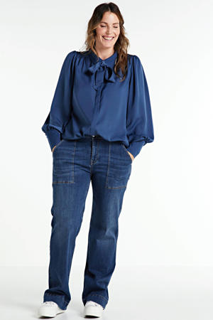 high waist straight fit jeans MARLENE dark denim