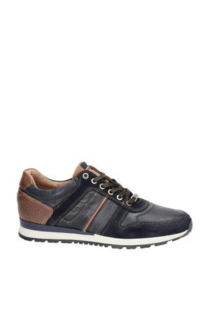Arrowhead  leren sneakers donkerblauw