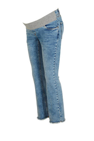 low waist flared zwangerschapsjeans light denim
