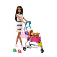 Barbie Loop en Speel Pups Pop en Accessoires (Donker)