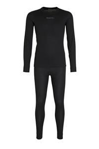 Craft thermo ondergoed zwart (set), Zwart